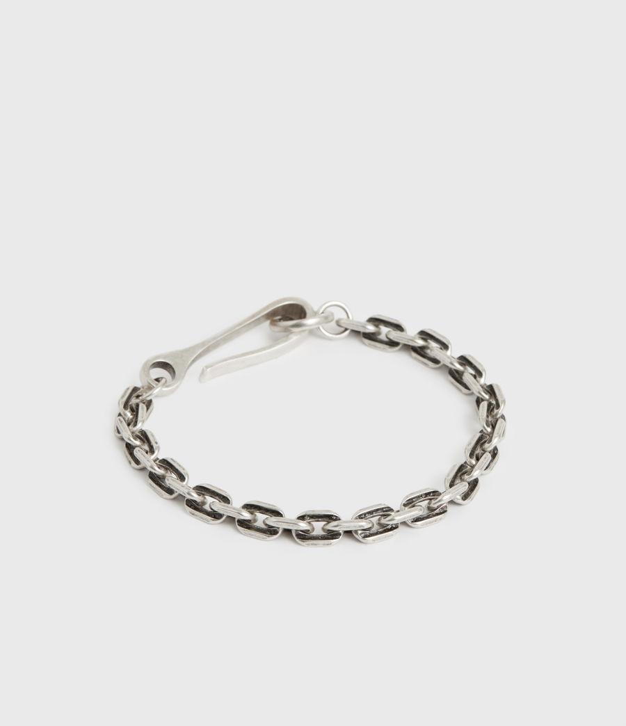 Men's Flex Sterling Silver Bracelet (warm_silver) - Image 5