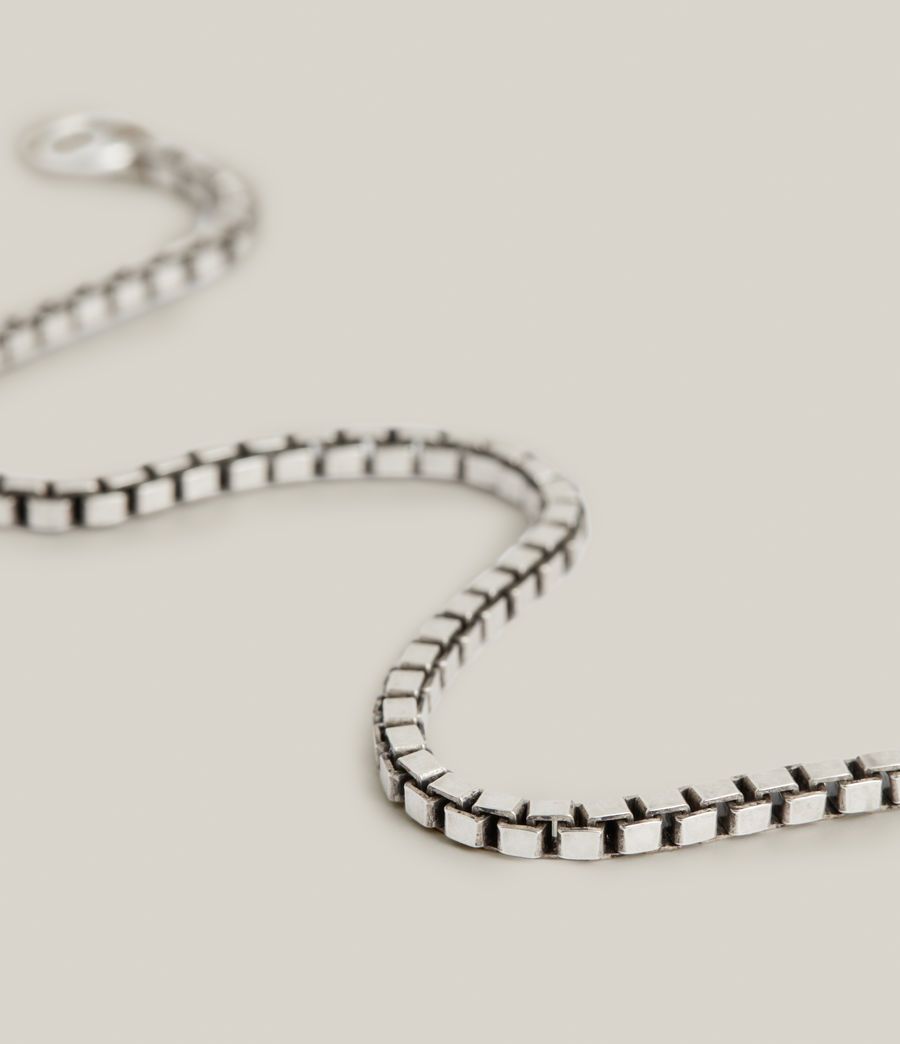 Mens Ron Sterling Silver Chain Bracelet (warm_silver) - Image 1