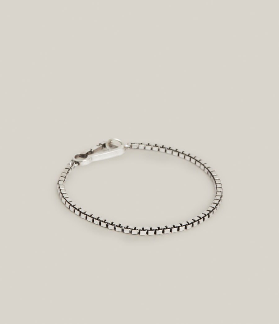 Mens Ron Sterling Silver Chain Bracelet (warm_silver) - Image 3