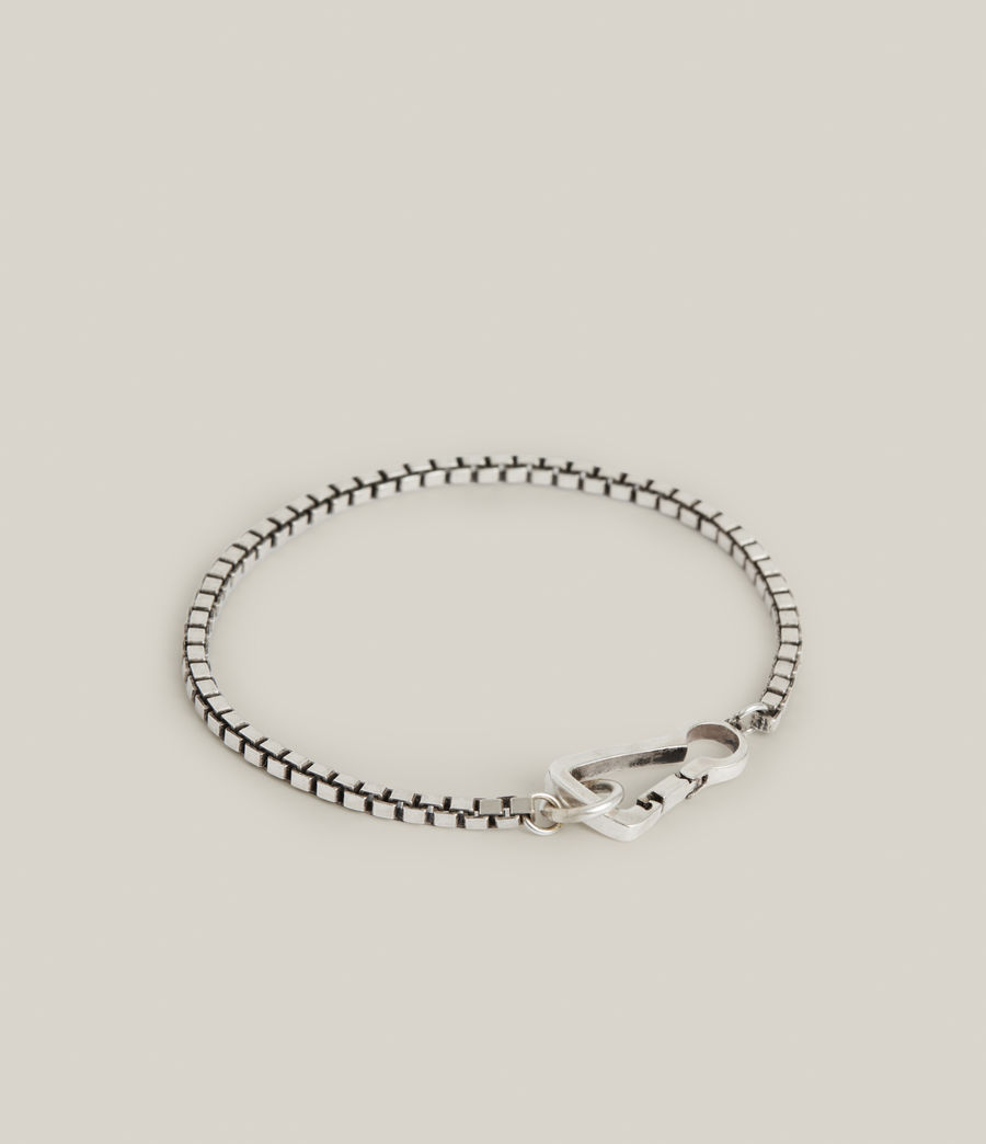 Mens Ron Sterling Silver Chain Bracelet (warm_silver) - Image 5