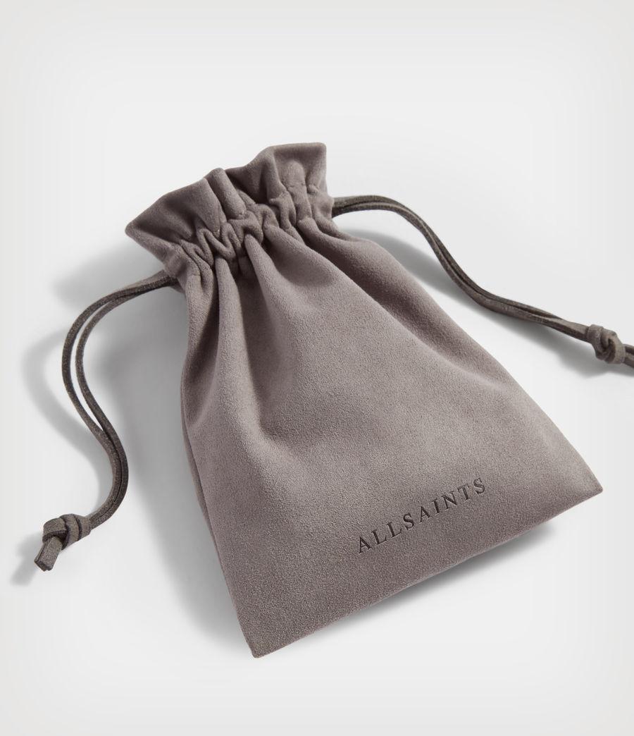Men's Hex Sterling Silver Hoop (warm_silver) - Image 6