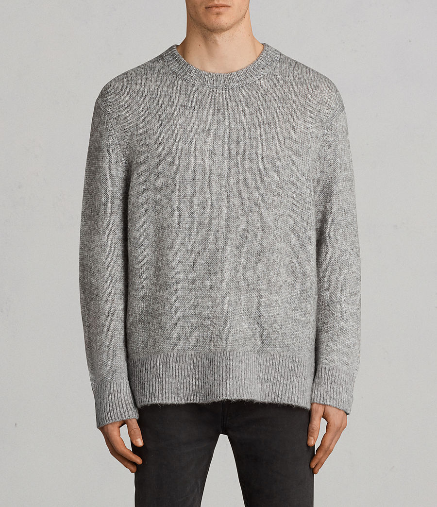 Mens Harnden Crew Sweater (grey_marl) - Image 1