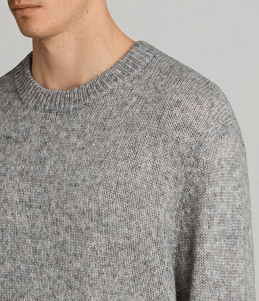 Men's Harnden Crew Jumper (grey_marl) - Image 2