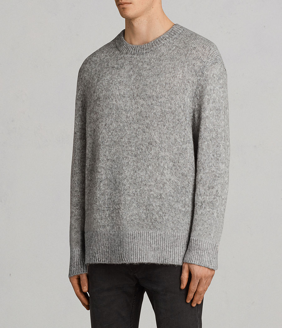 Mens Harnden Crew Sweater (grey_marl) - Image 3