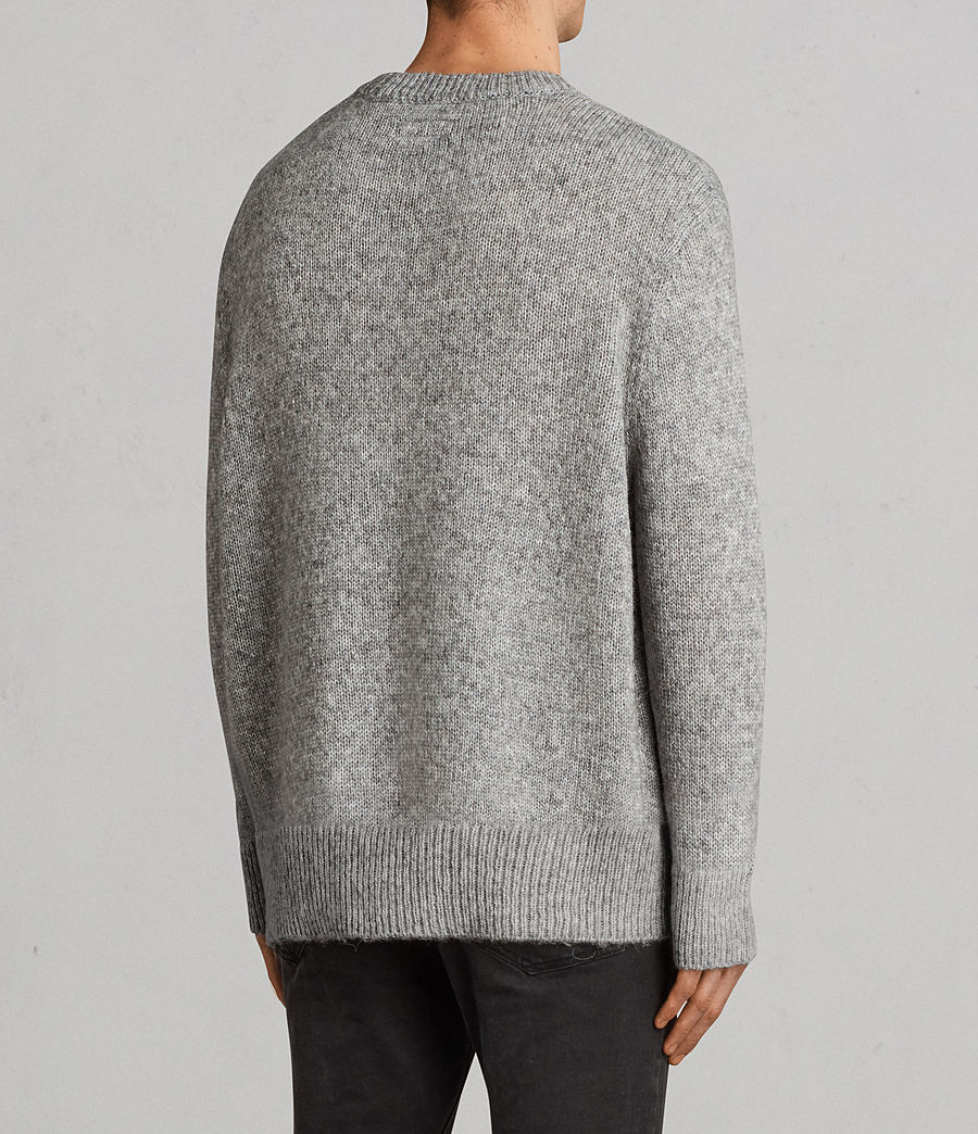 Men's Harnden Crew Jumper (grey_marl) - Image 4