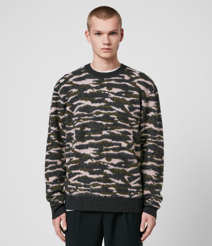 Hombre Kamo Crew Sweater (khaki_green_charcl) - Image 1