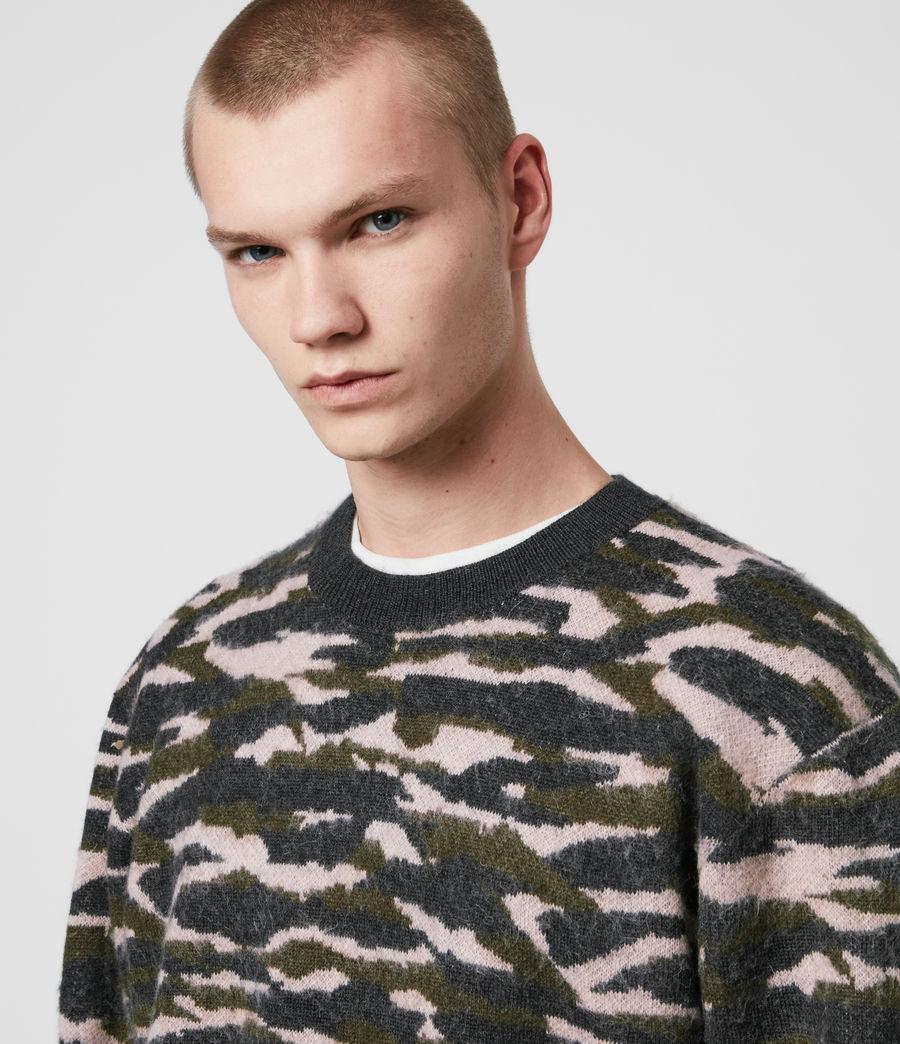 Hombre Kamo Crew Sweater (khaki_green_charcl) - Image 2