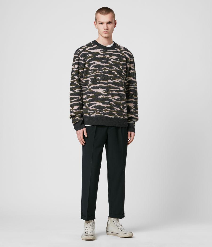 Hombre Kamo Crew Sweater (khaki_green_charcl) - Image 3