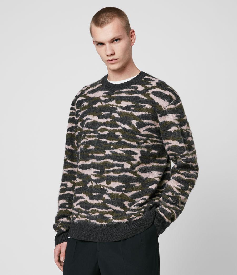 Hombre Kamo Crew Sweater (khaki_green_charcl) - Image 4