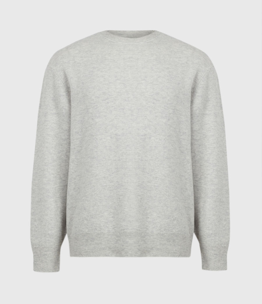 Mens Lori Crew Sweater (light_grey_marl) - Image 2