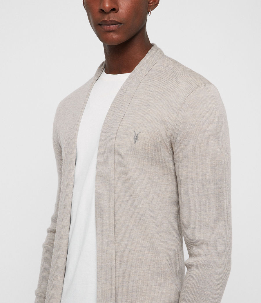 Men's Mode Merino Open Cardigan (oat_marl) - Image 2