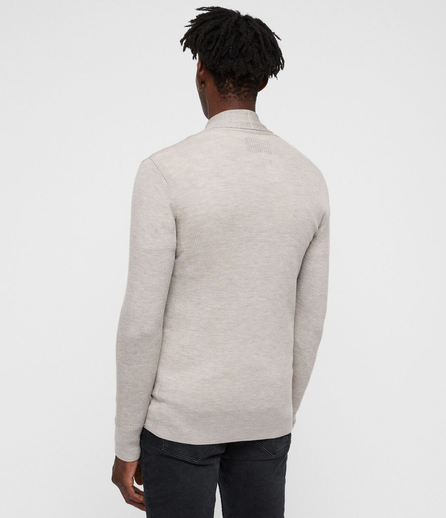 Men's Mode Merino Open Cardigan (oat_marl) - Image 4