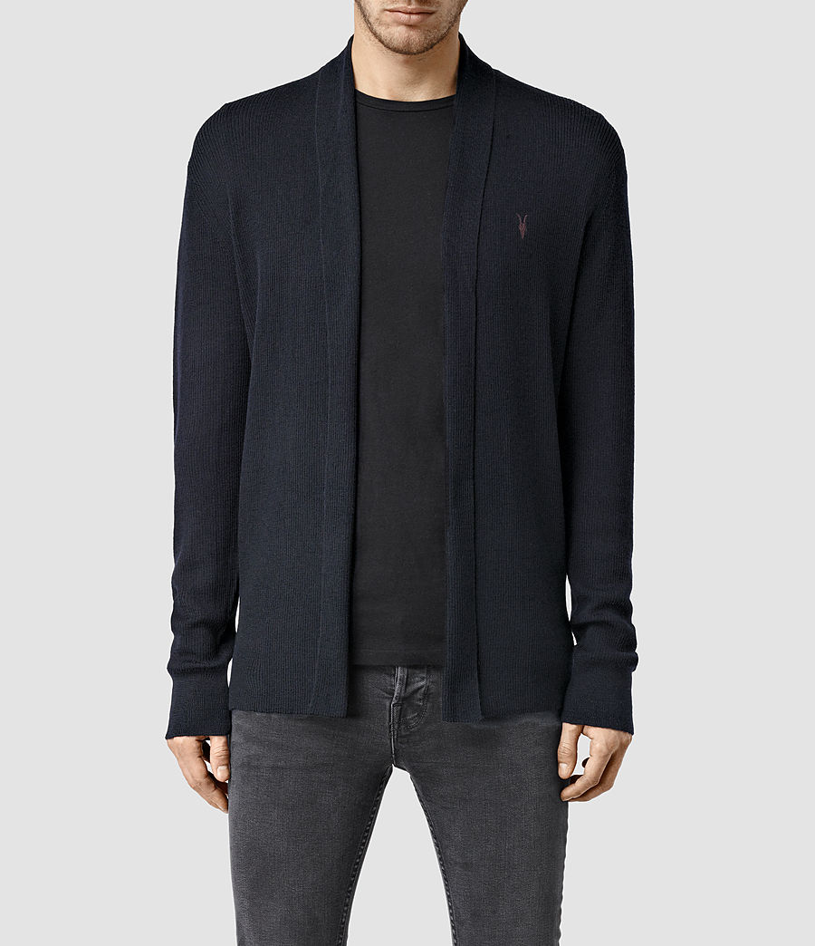 Mens Mode Merino Cardigan (ink) - Image 1