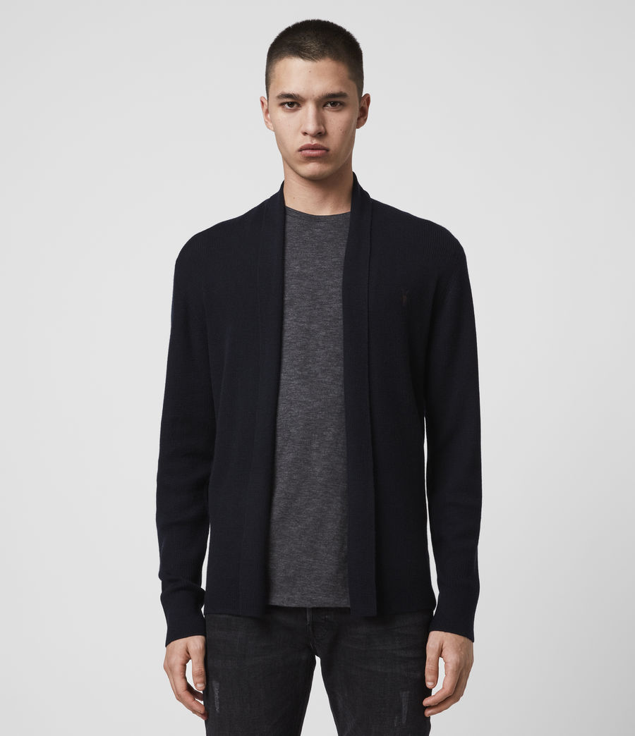 Men's Mode Merino Open Cardigan (ink_navy) - Image 4
