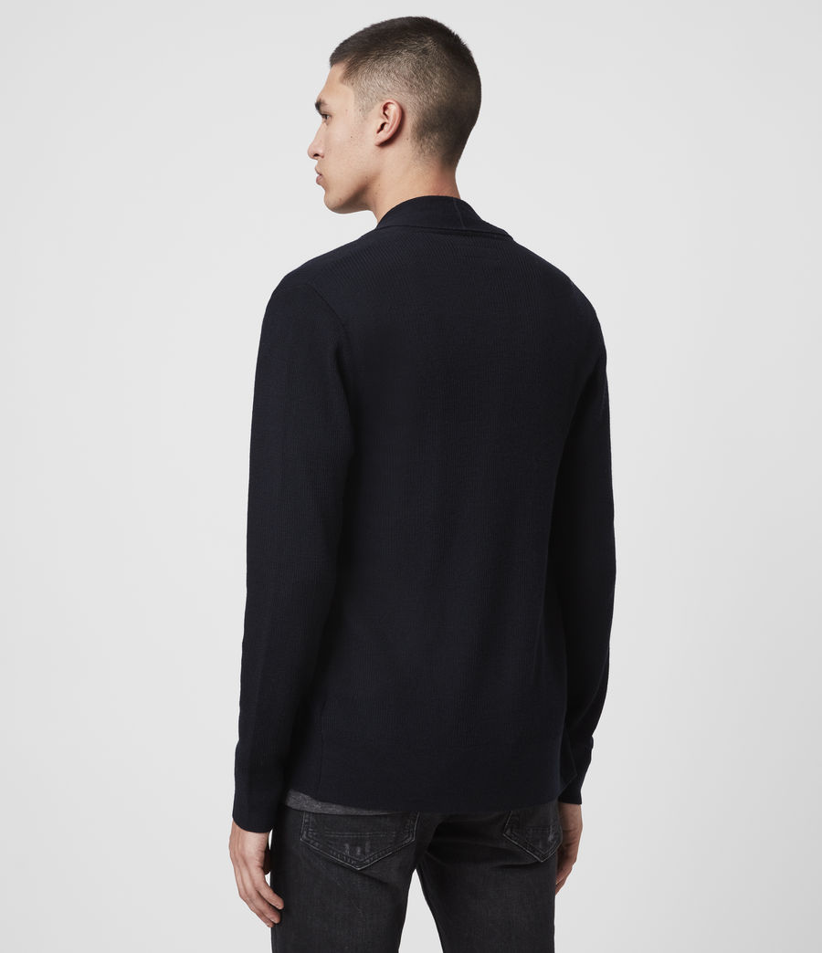 Mens Mode Merino Cardigan (ink_navy) - Image 8