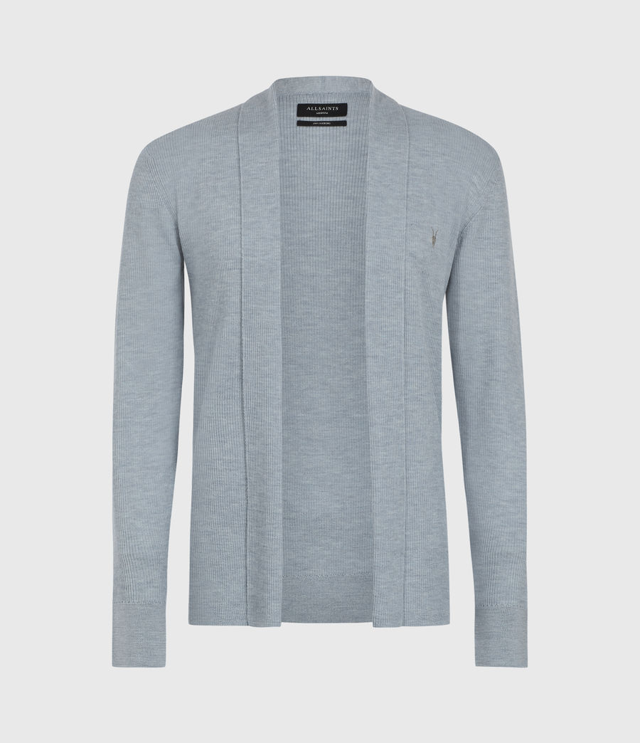 Mens Mode Merino Open Cardigan (nordic_blue_marl) - Image 2