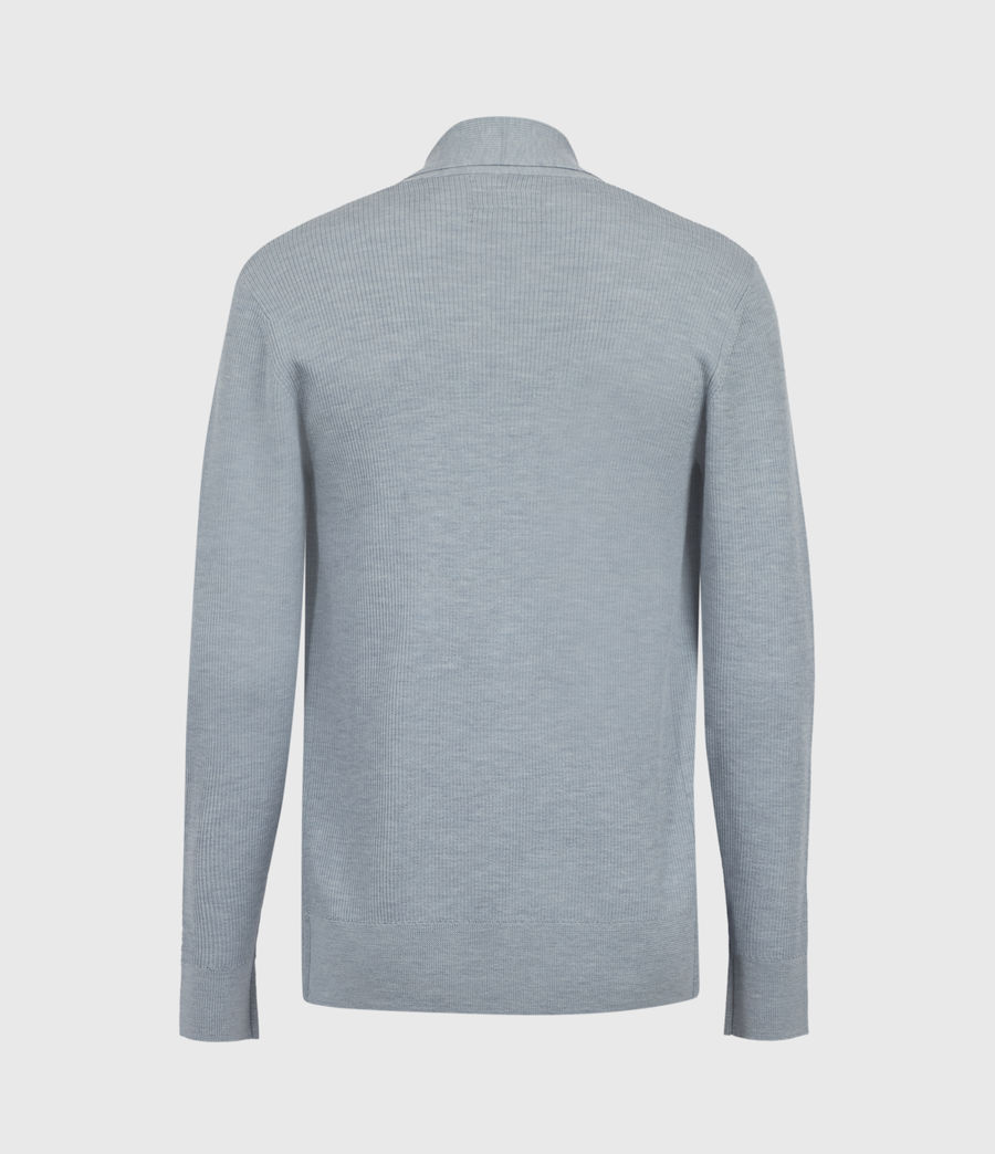 Mens Mode Merino Open Cardigan (nordic_blue_marl) - Image 3