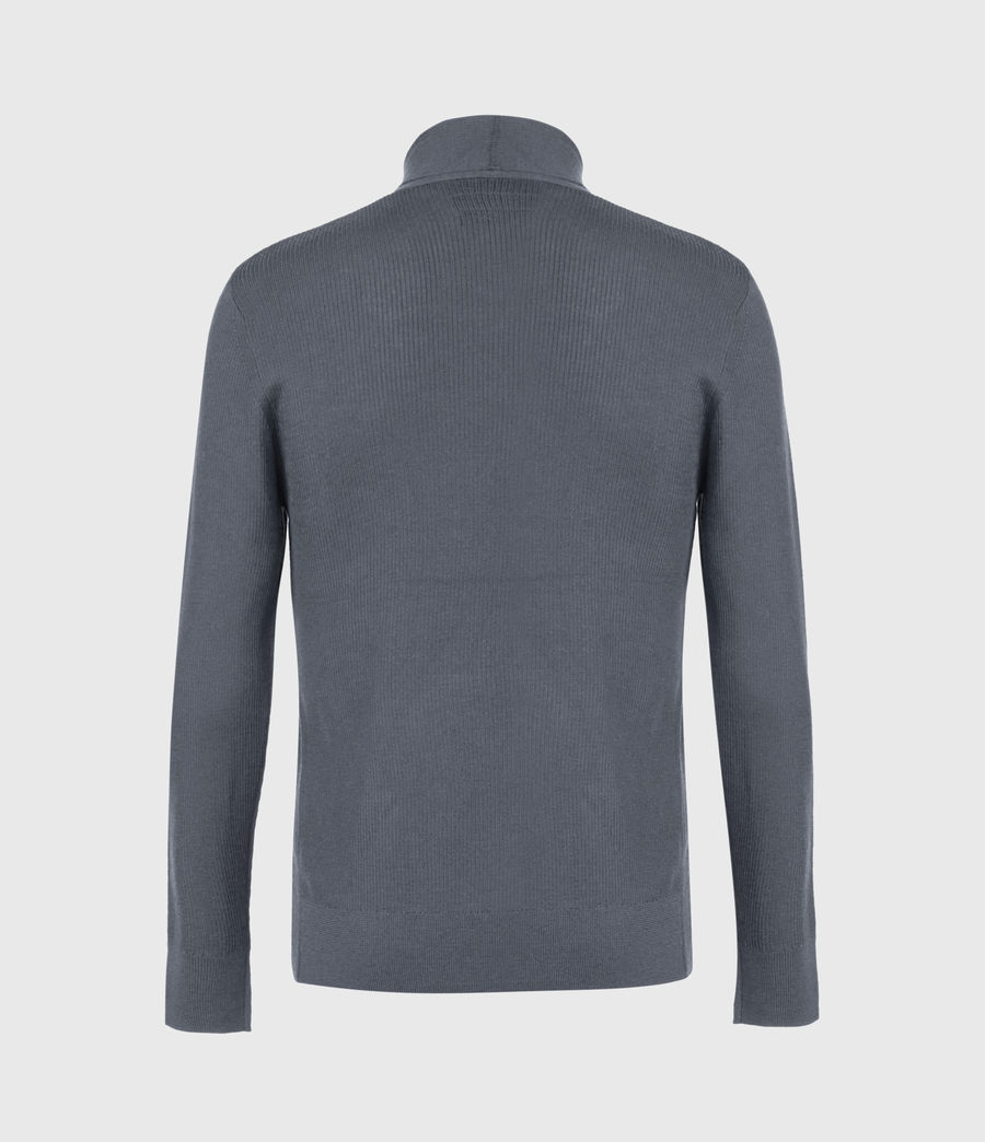 Men's Mode Merino Cardigan (grey_marl) - Image 3
