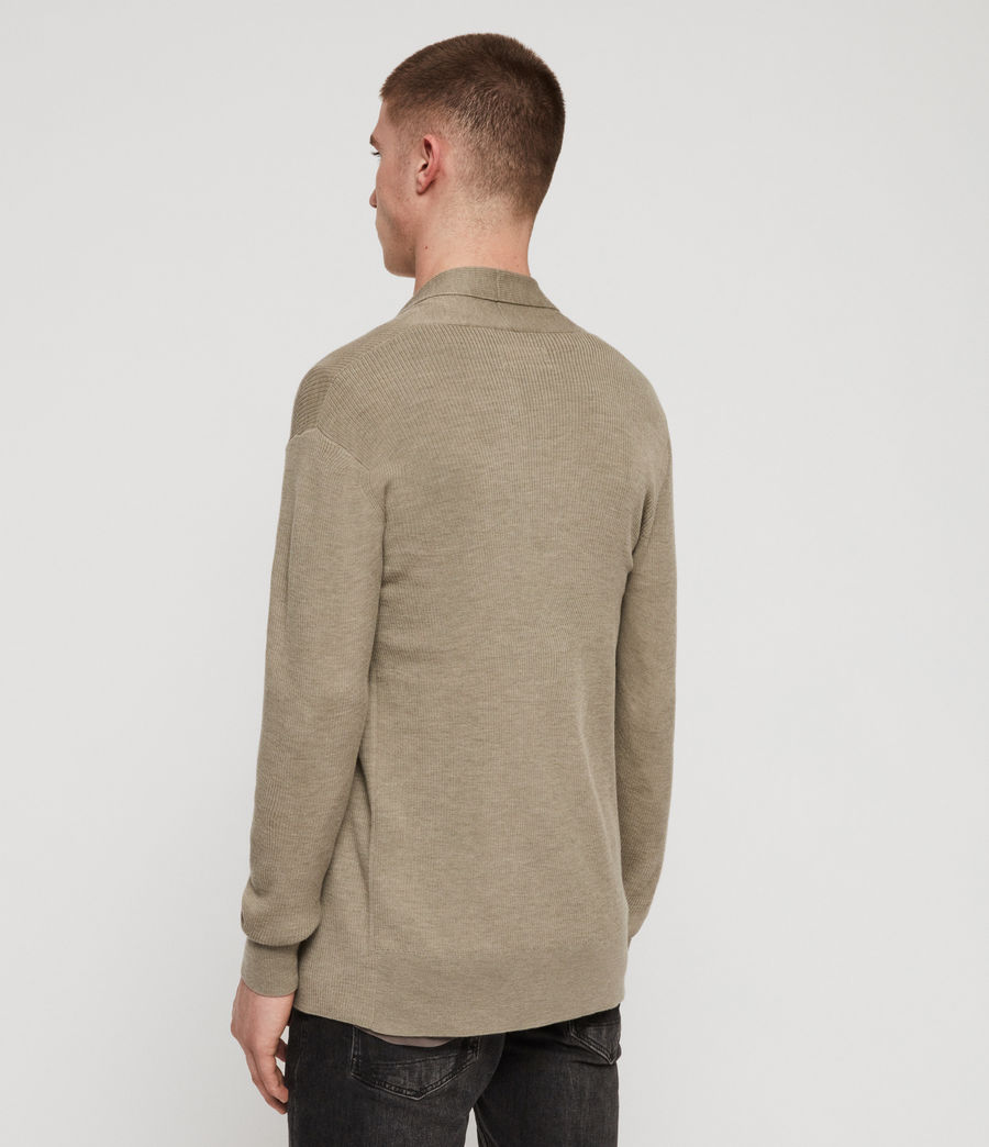 Herren Mode Merino Strickjacke (grey_marl) - Image 5