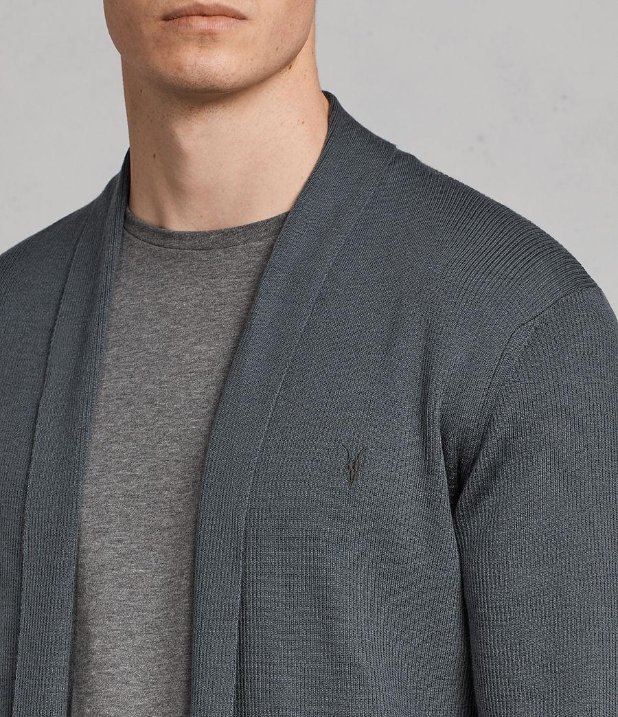 Hommes Cardigan Mode Merino (flint_green) - Image 2