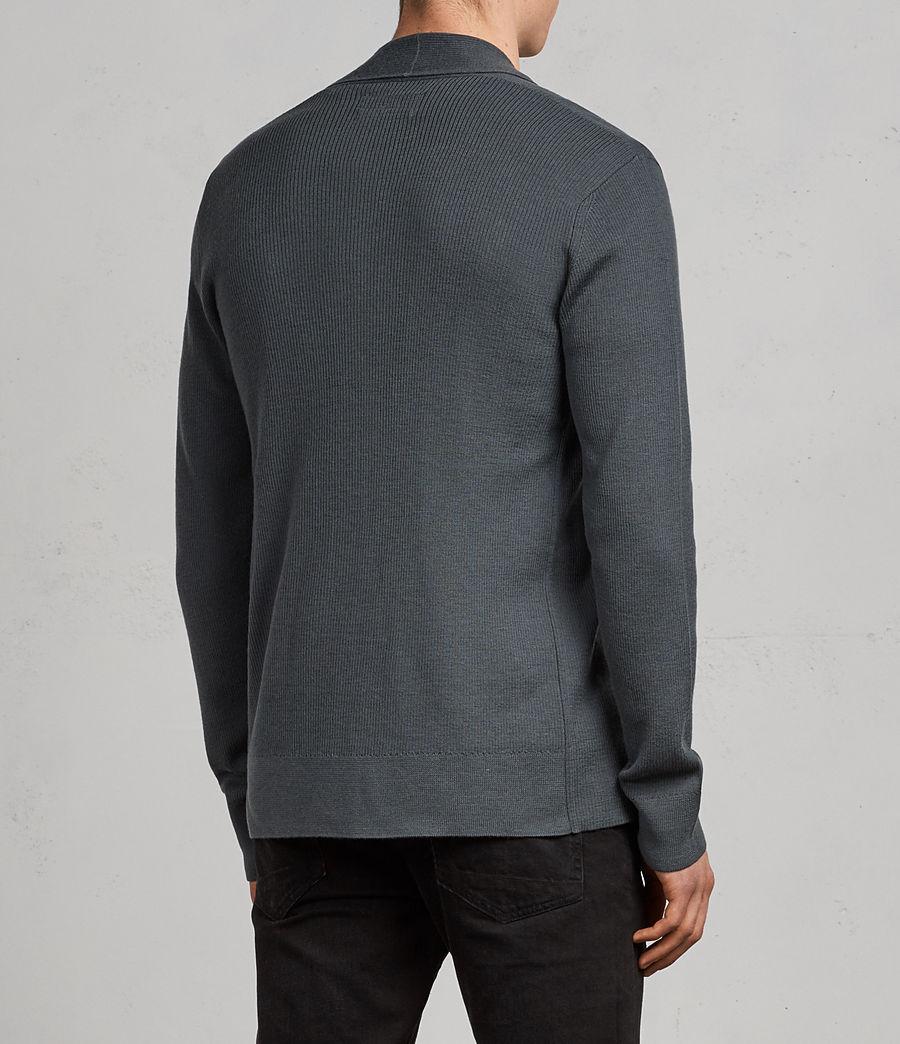Hommes Cardigan Mode Merino (flint_green) - Image 4