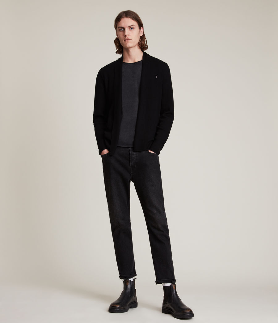 Mens Mode Merino Cardigan (black) - Image 3