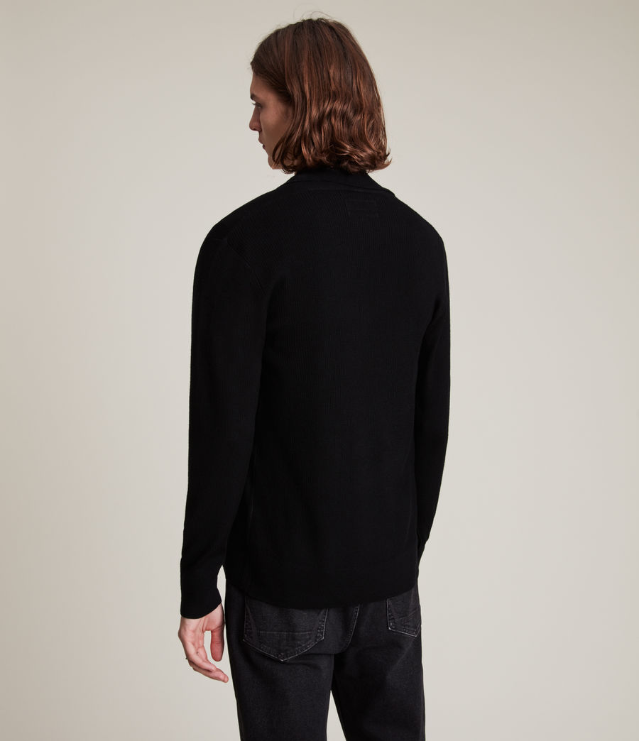 Men's Mode Merino Cardigan (black) - Image 5