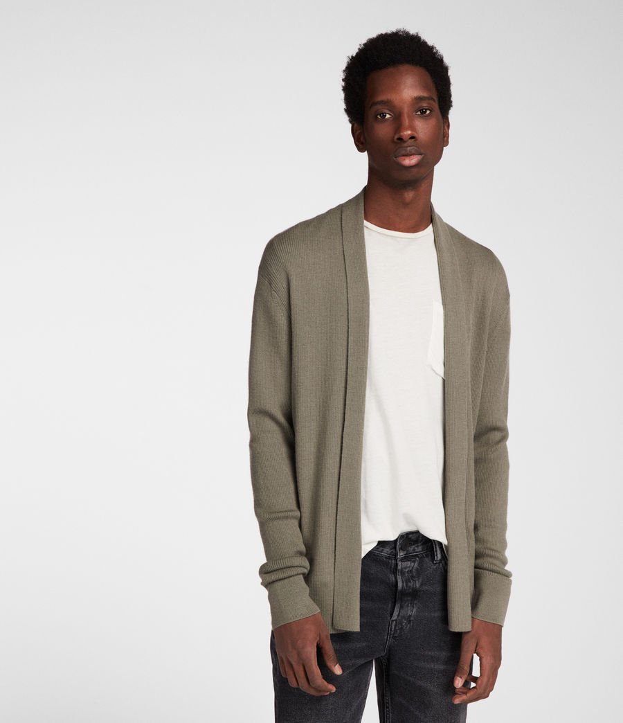 Men's Mode Merino Cardigan (trench_khaki) - Image 1