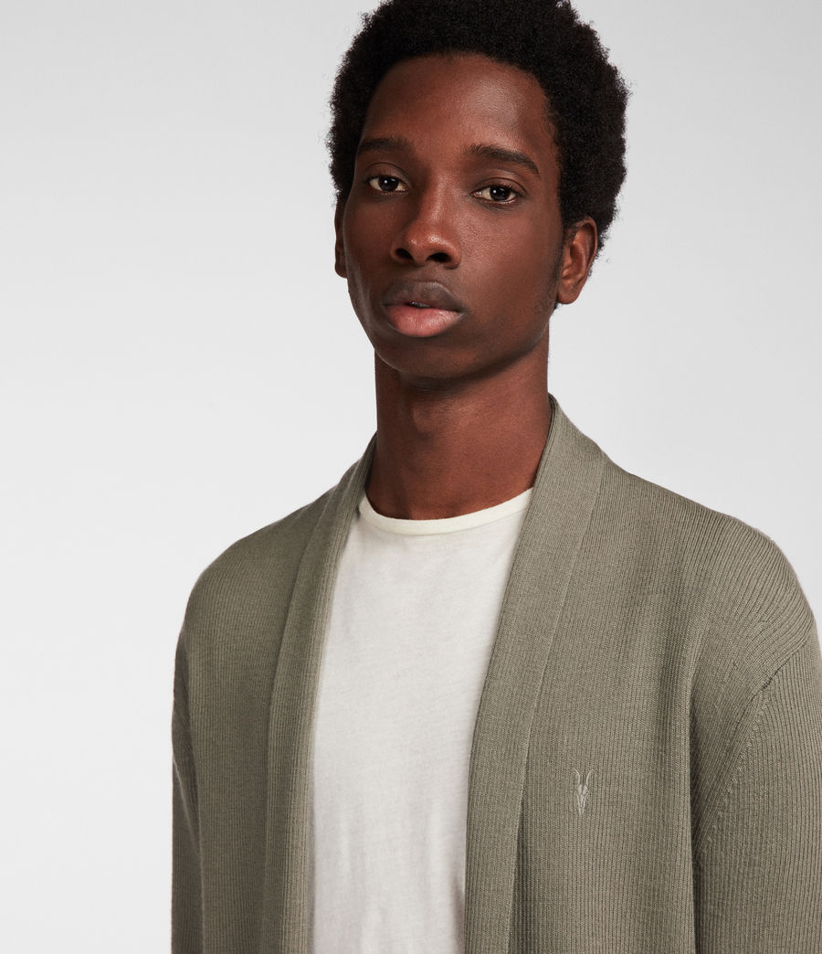 Men's Mode Merino Cardigan (trench_khaki) - Image 2