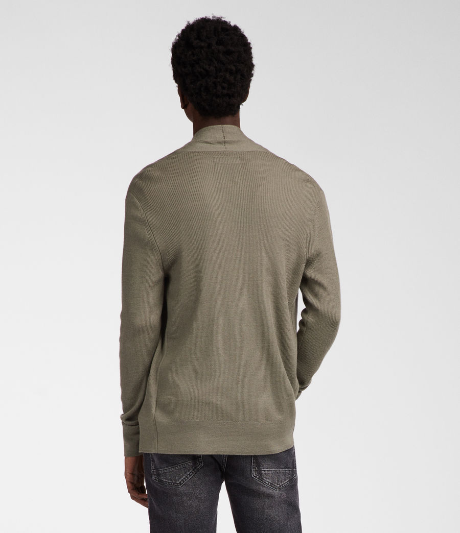 Men's Mode Merino Cardigan (trench_khaki) - Image 4