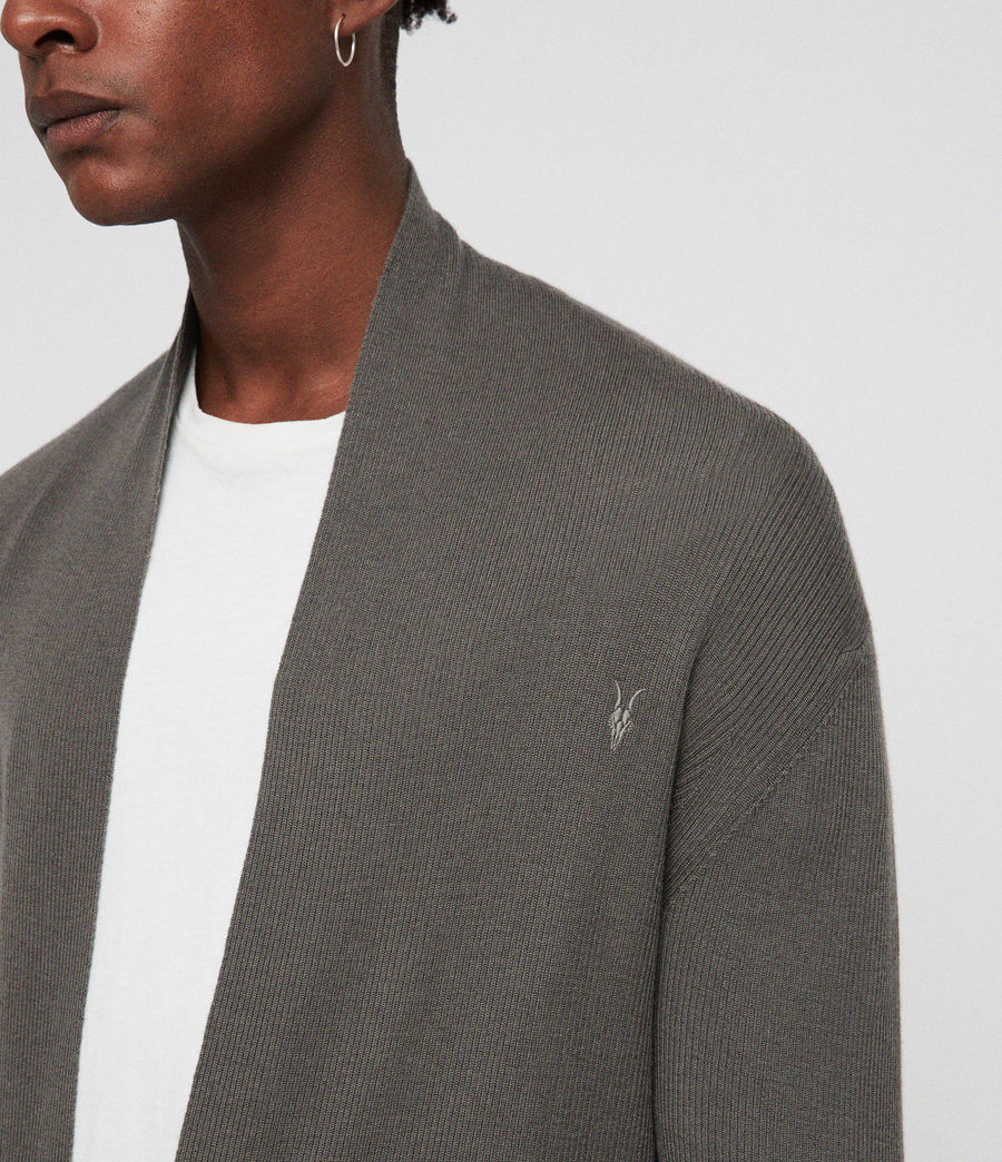 Hombres Mode Merino Open Cardigan (core_grey) - Image 2
