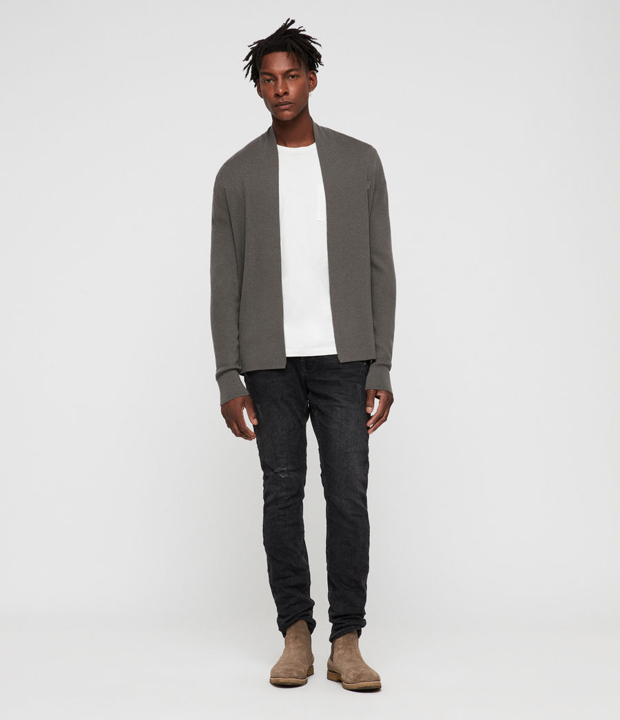 Hombres Mode Merino Open Cardigan (core_grey) - Image 3