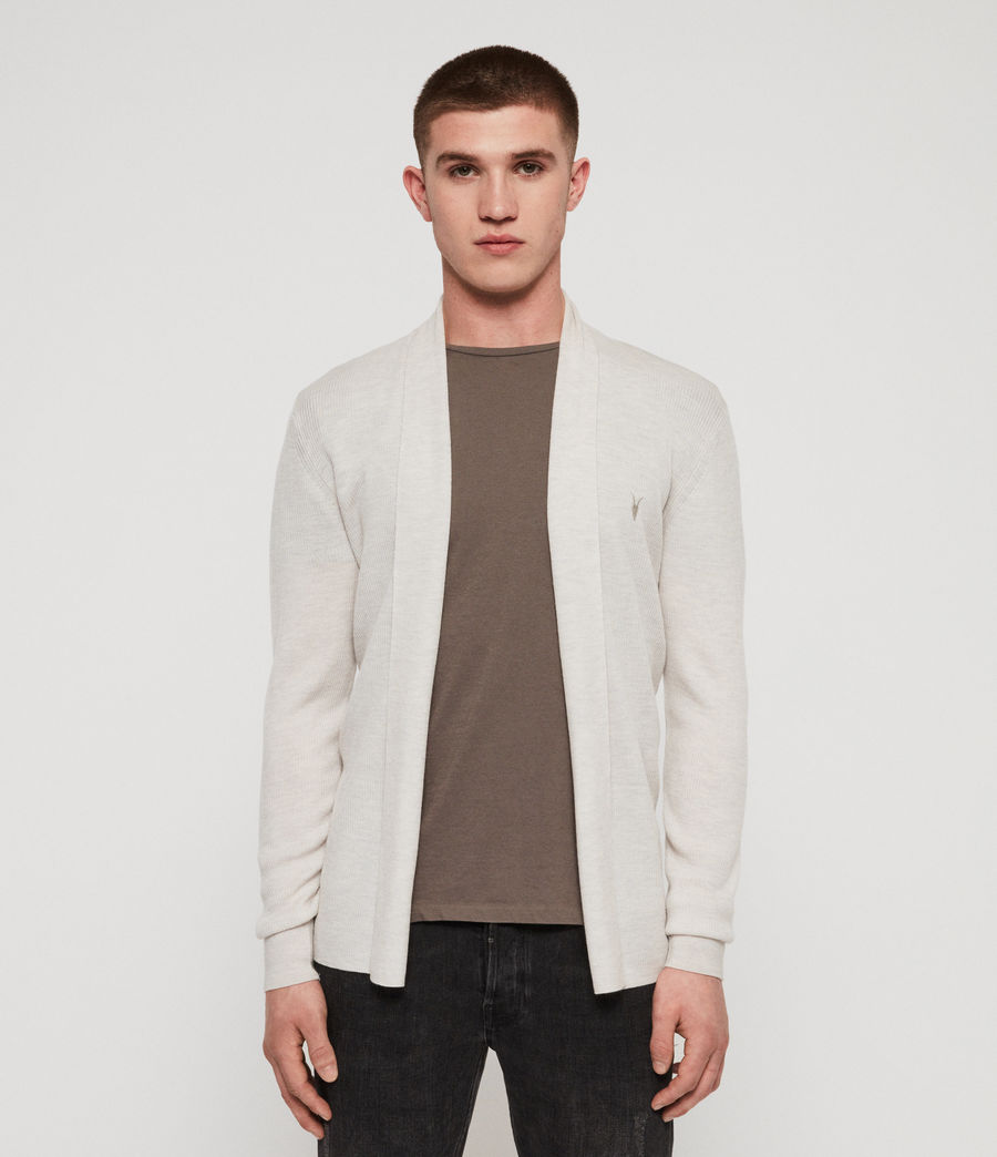 Mens Mode Merino Open Cardigan (salt_grey_marl) - Image 1