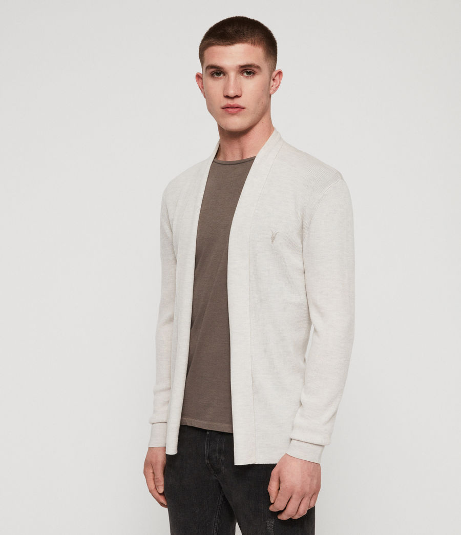 Mens Mode Merino Open Cardigan (salt_grey_marl) - Image 4