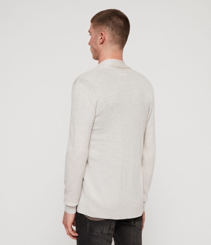 Mens Mode Merino Open Cardigan (salt_grey_marl) - Image 5