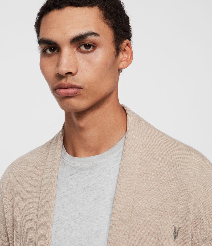 Men's Mode Merino Cardigan (grey_marl) - Image 2