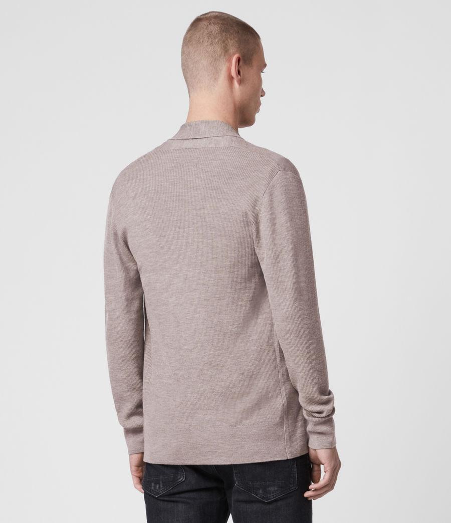 Mens Mode Merino Open Cardigan (grain_taupe) - Image 4