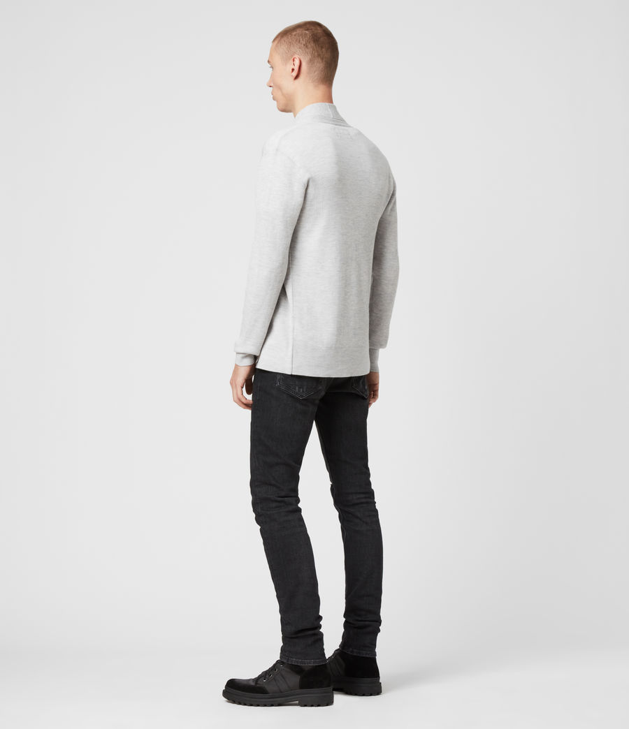 Mens Mode Merino Cardigan (light_grey_marl) - Image 7