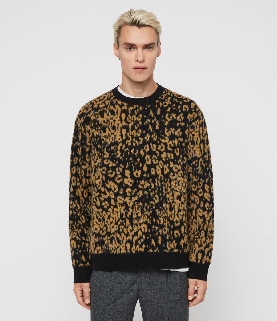 Men's Wildcat Crew Jumper (leo_yellow_black) - Image 1