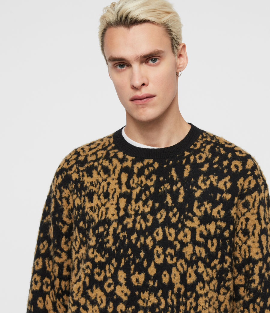 Men's Wildcat Crew Jumper (leo_yellow_black) - Image 2