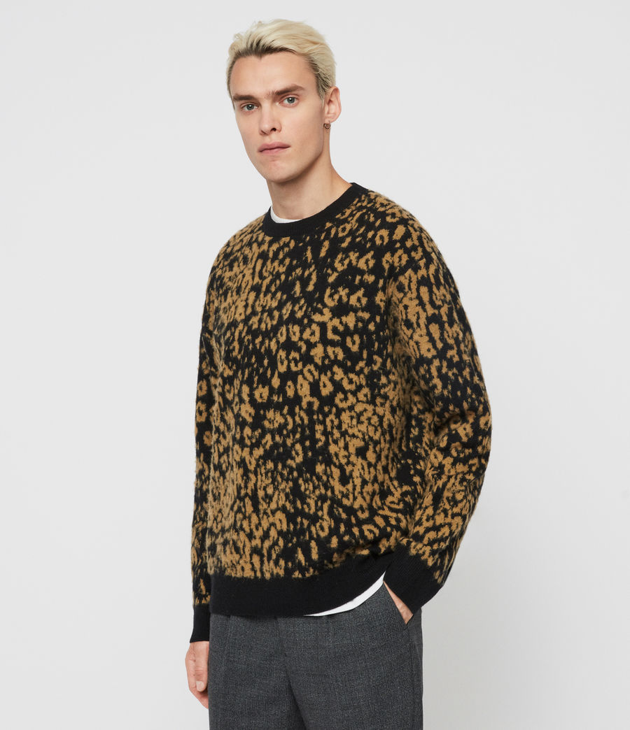 Men's Wildcat Crew Jumper (leo_yellow_black) - Image 3