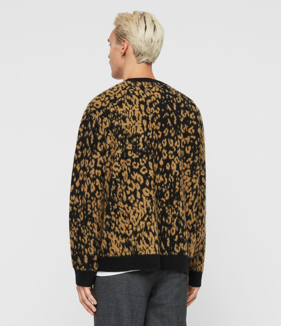 Herren Wildcat Pullover (leo_yellow_black) - Image 4