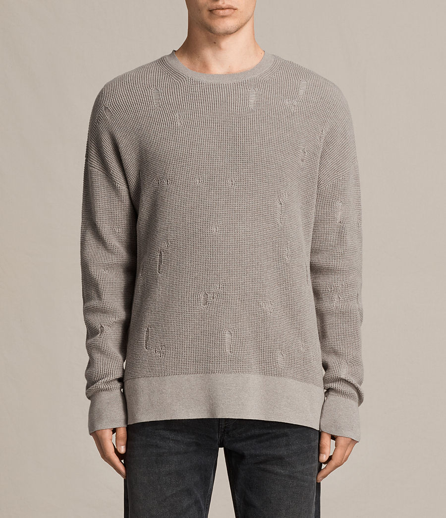 Men's Forram Long Sleeve Crew Jumper (putty_grey_marl) - Image 1
