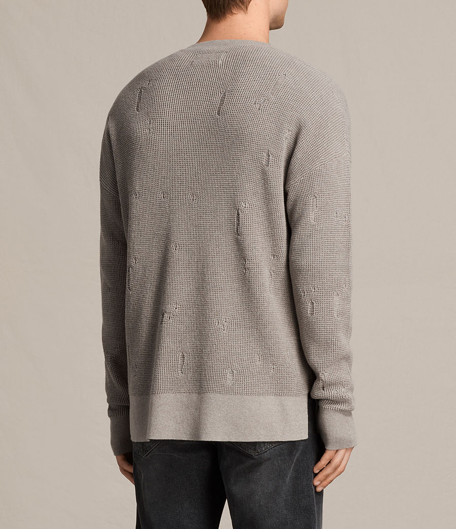 Men's Forram Long Sleeve Crew Jumper (putty_grey_marl) - Image 3