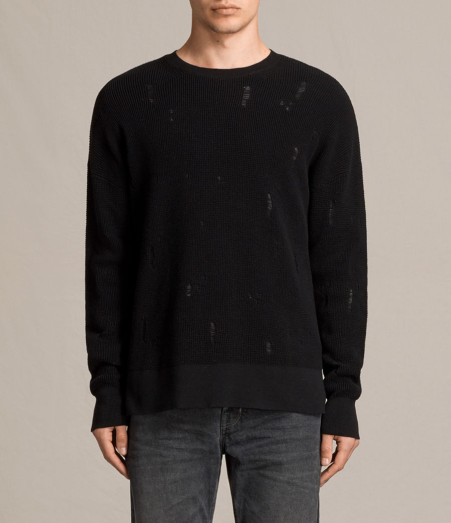 Herren Forram Long Sleeve Crew Jumper (black) - Image 1