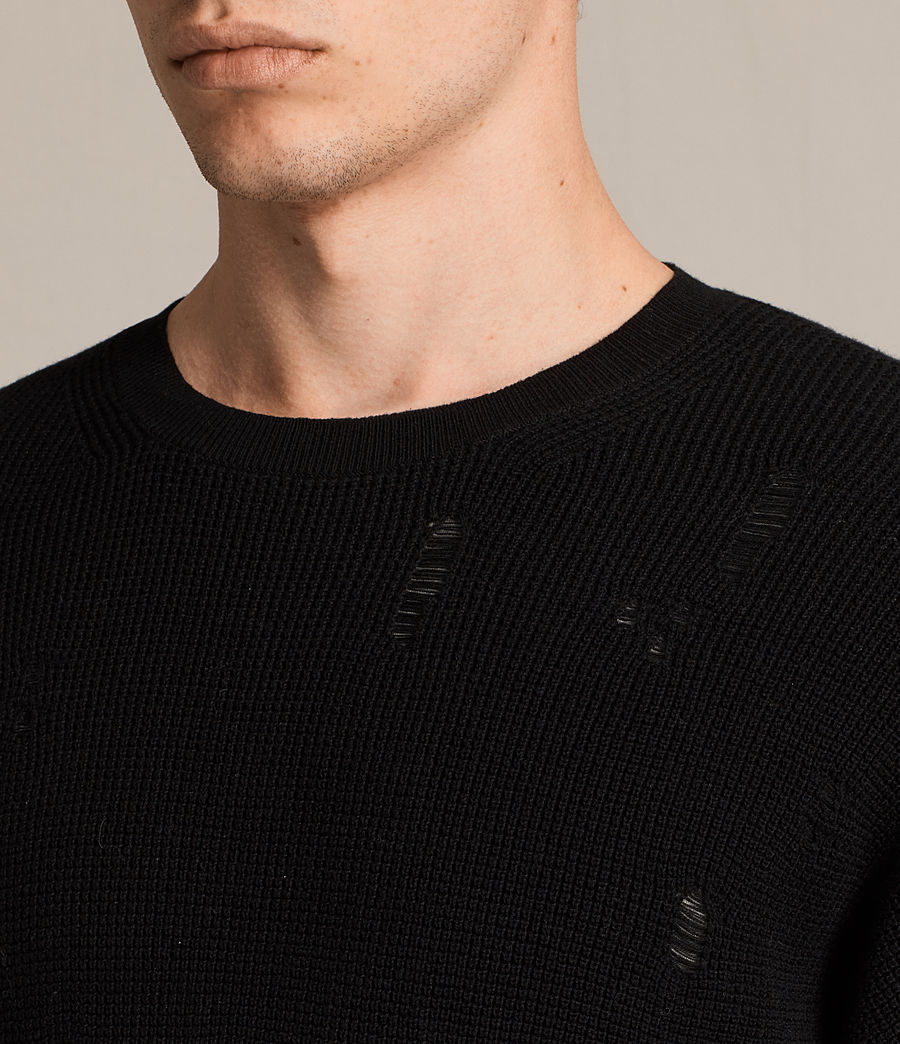 Herren Forram Long Sleeve Crew Jumper (black) - Image 2