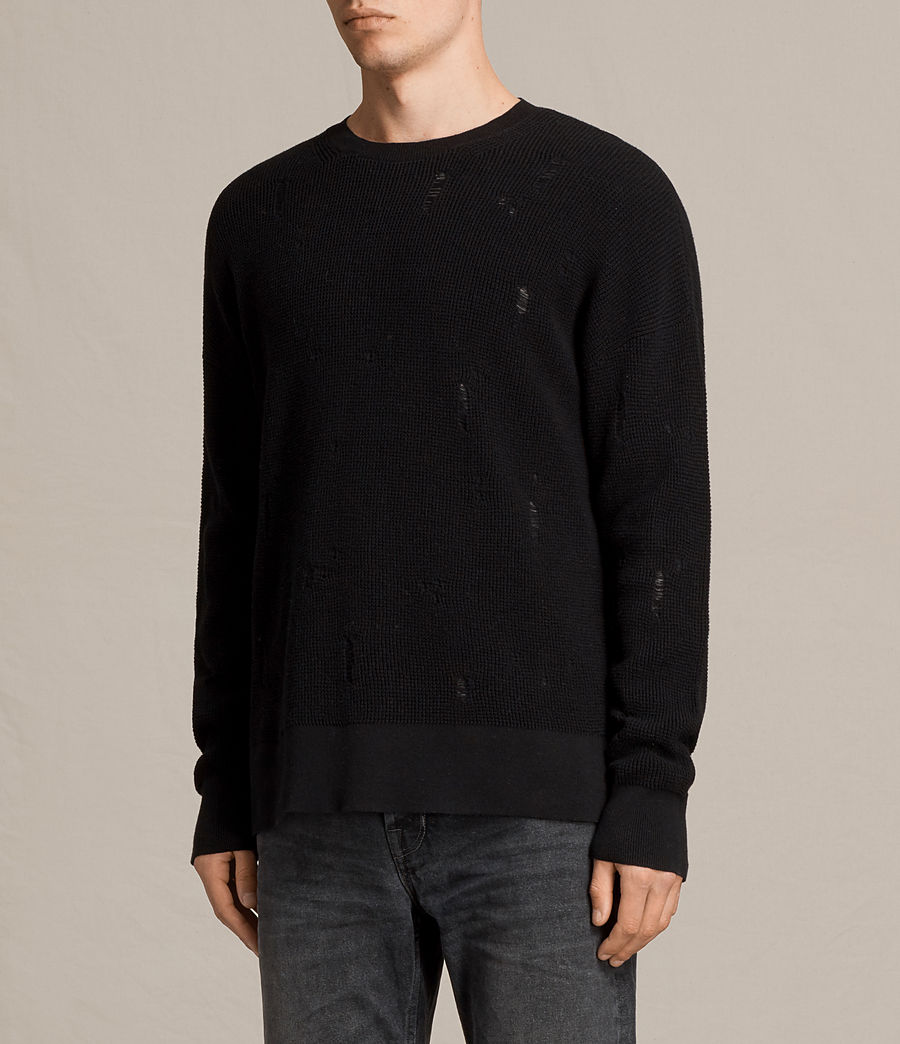 Herren Forram Long Sleeve Crew Jumper (black) - Image 3