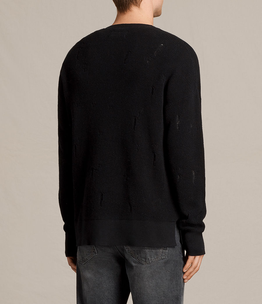 Herren Forram Long Sleeve Crew Jumper (black) - Image 4