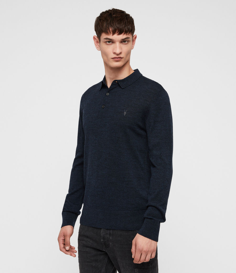 Men's Mode Merino Polo Shirt (grey_marl) - Image 1
