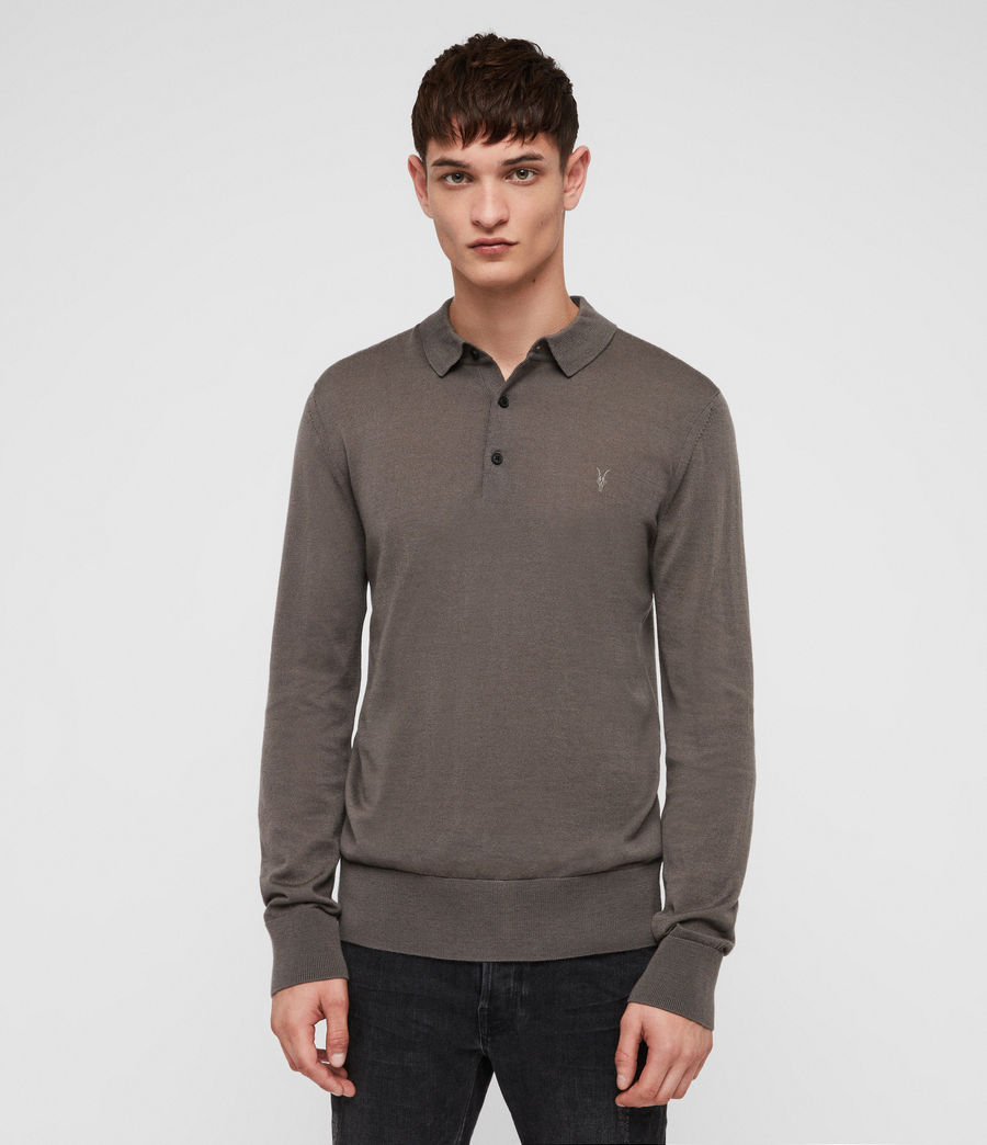 Mens Mode Merino Polo Shirt (core_grey) - Image 1